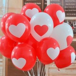 Balon Latex Love Satu Sisi / Balon Karet Hati / Balon Enggagement / Balon Wedding 12 inch - 10 Pcs