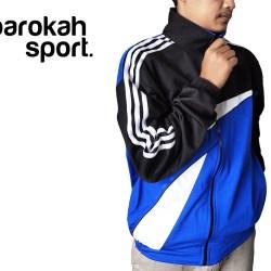 barokah sport / fashion pria / jaket olahraga jaket training trening olahraga model segi tiga / lari / bersepeda senam 014