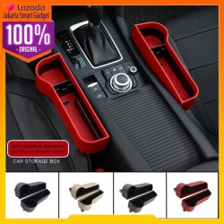 2Pc Front Seat Car Organizer Side Pocket Leather Accessories Aksesoris