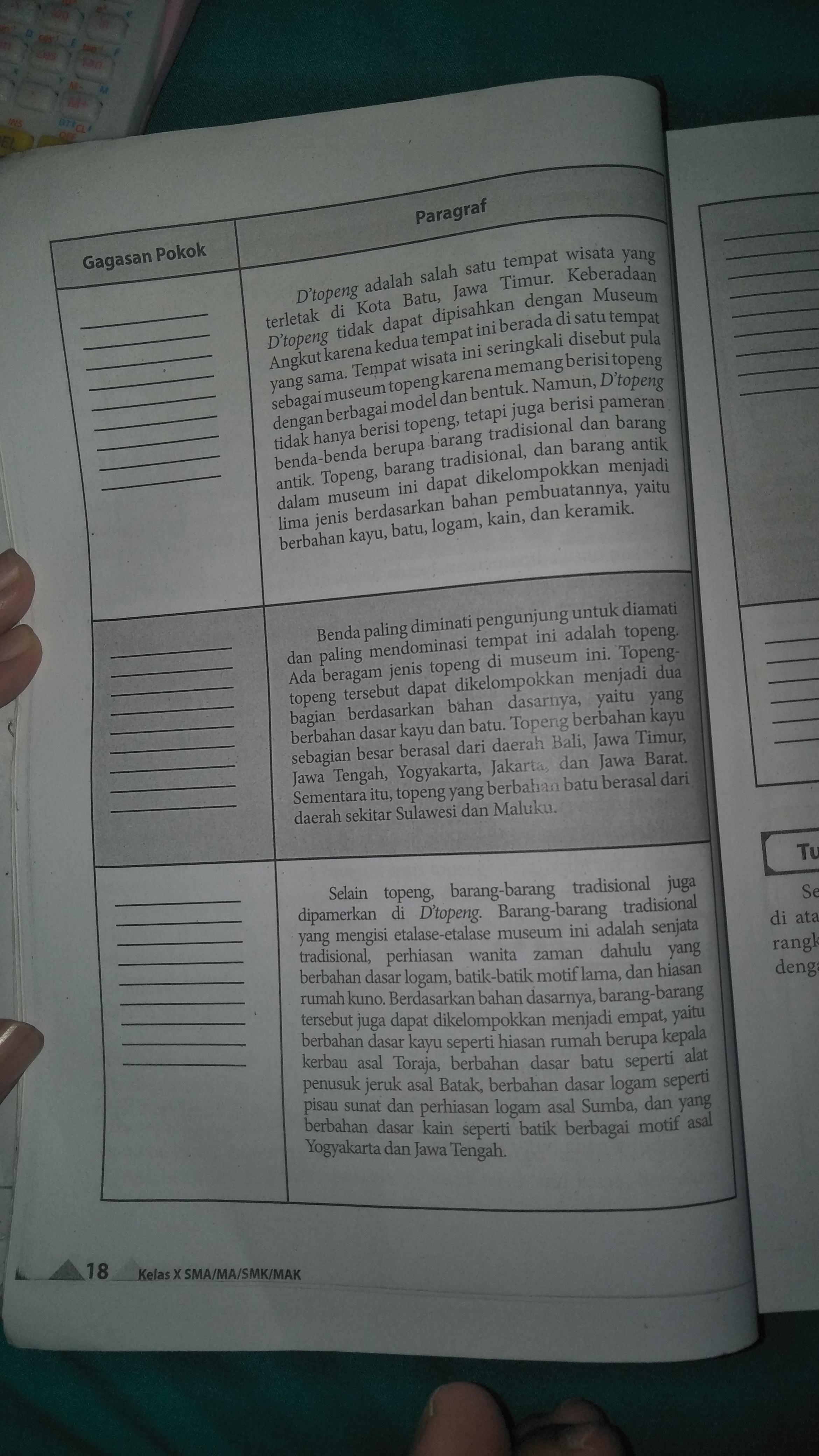Kunci jawaban lks kreatif matematika sma kelas 10 muse. Jawaban Tabel Tugas 2 Halaman 18 Buku Bahasa Indonesia Kelas 10 Brainly Co Id