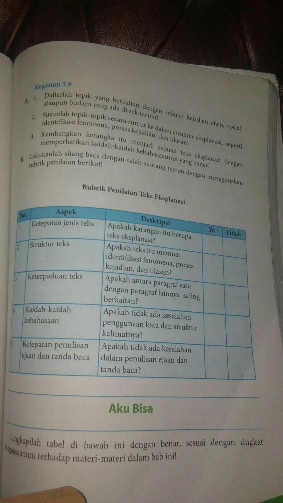 Kunci jawaban buku bahasa indonesia kelas 9 halaman 13. Jawaban Seni Budaya Kelas 9 Halaman 155 Cara Golden