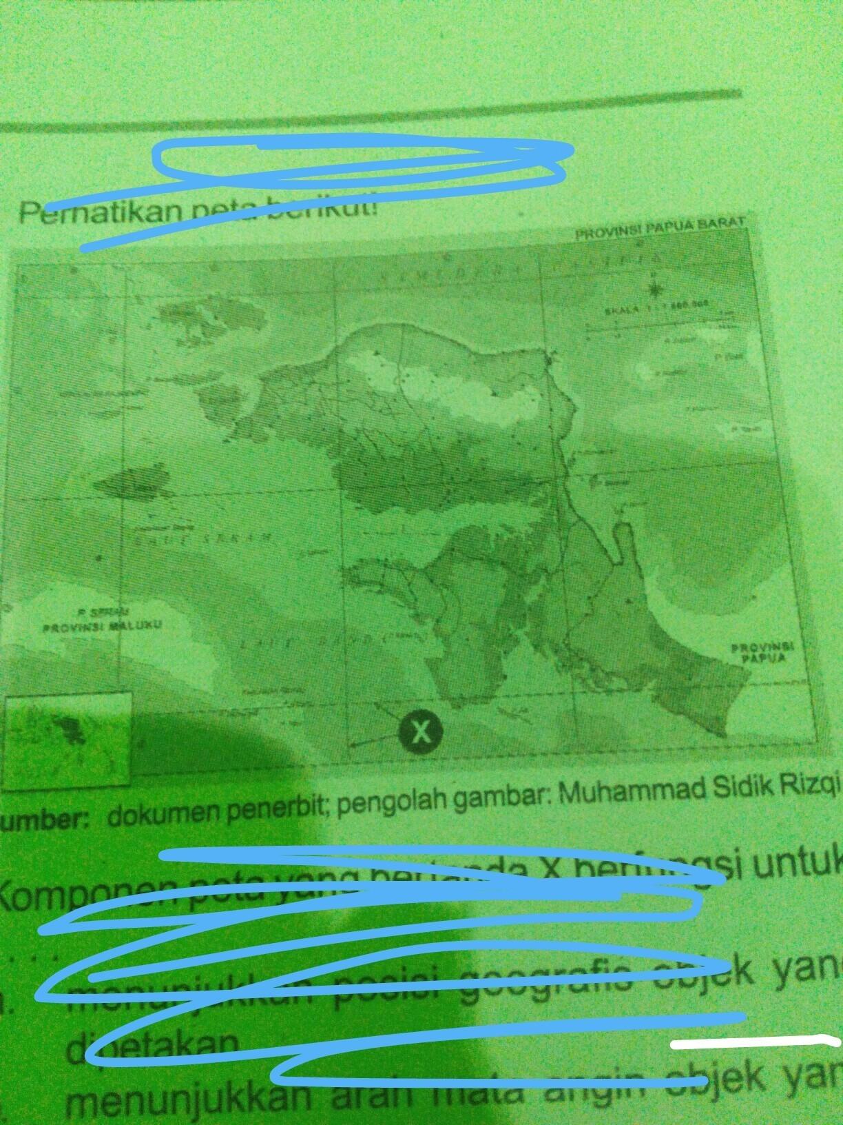 Setiap peta harus memiliki judul atau identitas peta itu sendiri yang mencerminkan isi peta itu sendiri pula. Perhatikan Gambar Peta Berikut Komponen Peta Yang Bertanda X Brrfungsi Untuka Menunjukan Posisi Brainly Co Id