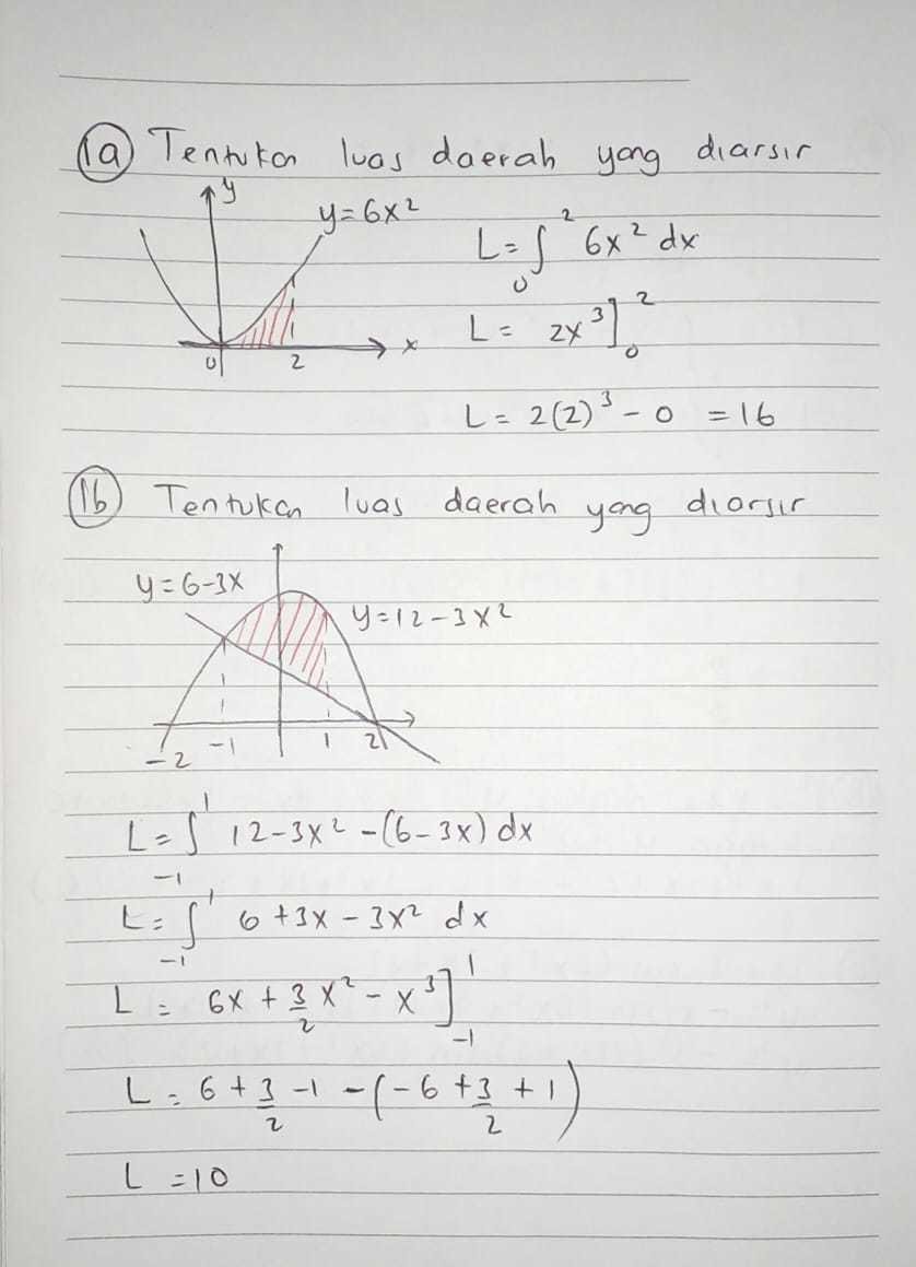 Contoh penyelesaian soal integral tentu logaritma natural. 10 Contoh Soal Integral Tak Tentu