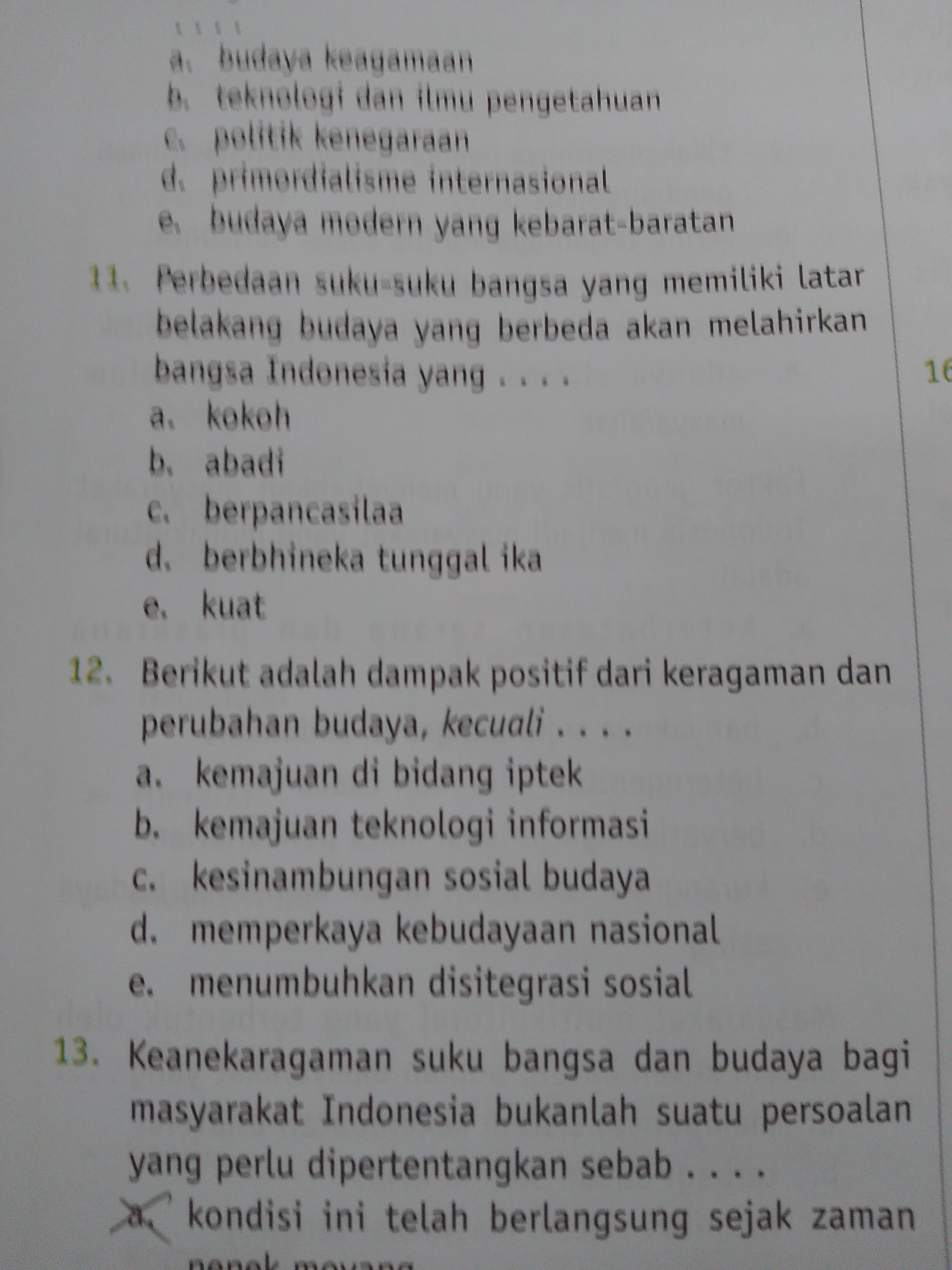 Sejarah sosial masyarakat islam indonesia, studi pembangunan, budaya,. berikut adalah dampak positif dari keragaman dan perubahan