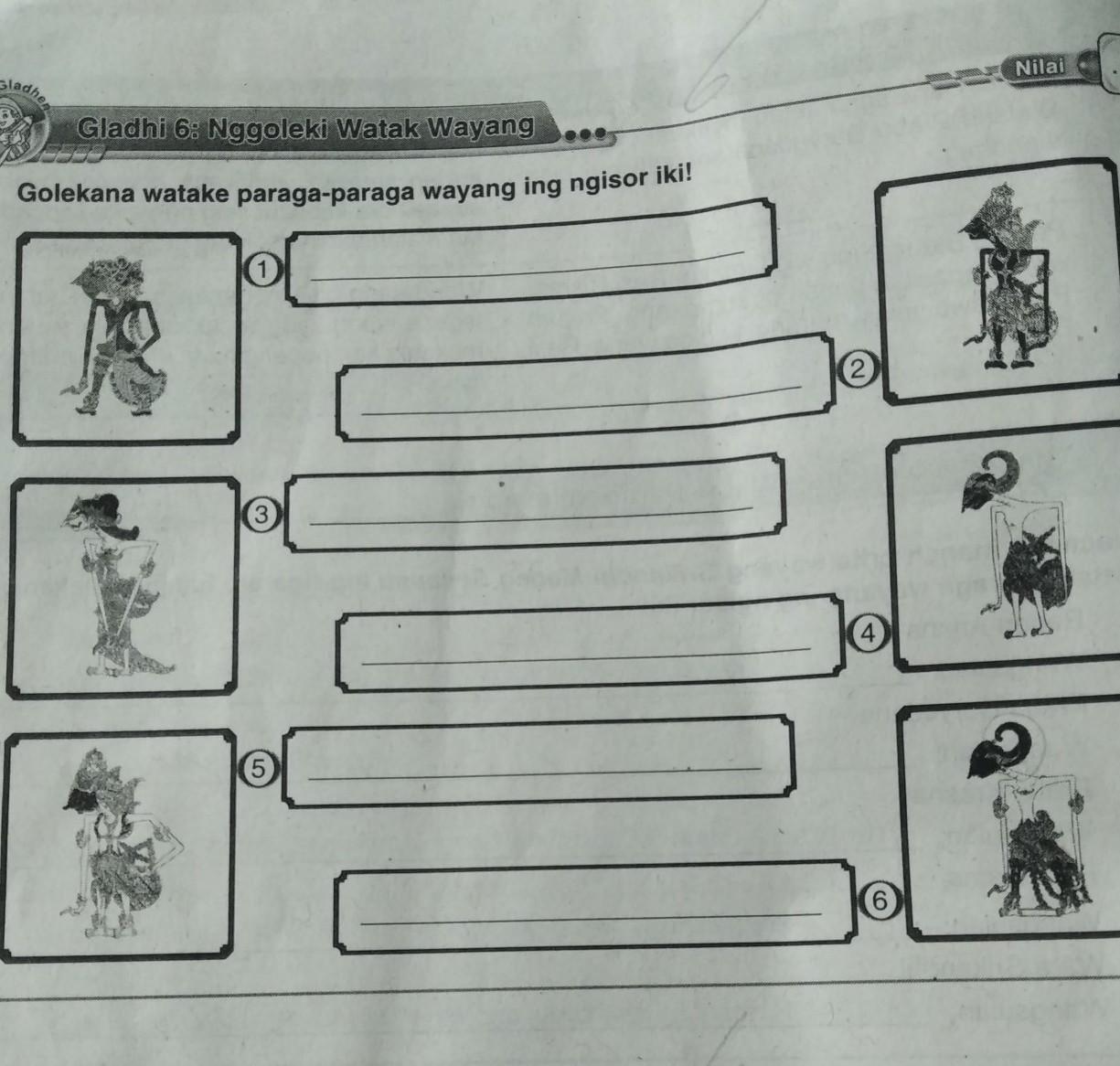 Di dalam bahasa jawa, kita juga mempelajari tentang kesenian khas daerah jawa, seperti pewayangan. Gambar Wayang Lan Jenenge Lan Gamane