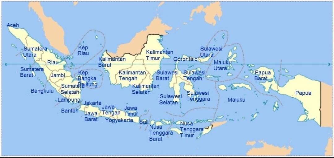 Seperti sebuah kisah cinta yang pernah penulis rasakan, hehe. Gambar Peta Indonesia Brainly Co Id