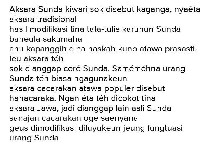 Belajar aksara sunda lengkap huruf angka rarangkencontoh kalimat sejarah. Aksara Sunda Kuno
