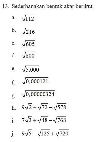Berikut ini adalah pembahasan dan kunci jawaban latihan 2.1 persamaan kuadrat matematika kelas 9 halaman 81, 82 semester 1. Matematika Semester 1 Kelas 9 Hal 49 Latihan 1 4 Nomor 13 Beserta Cara Dan Jawabannya Brainly Co Id