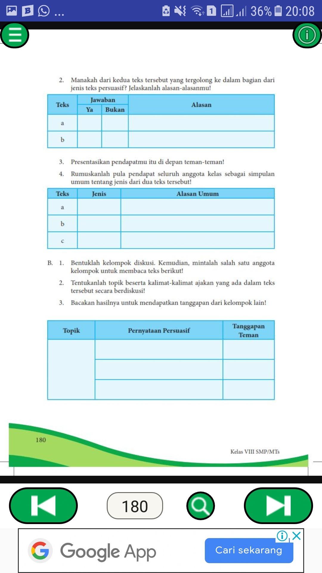 Jawaban Kegiatan 7 2 Bahasa Indonesia Kelas 8 Bab 7dibntu