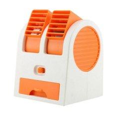 StarHome AC Duduk Mini Portable - Double Blower Mini AC - Kipas Angin Orange