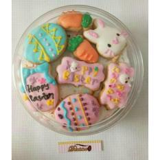 fancy cookies - kue kering hias icing karakter paskah - easter bunny eggs