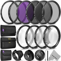 52MM Complete Lens Filter Accessory Kit (UV, CPL, FLD, ND2, ND4, ND8 and Macro Lens Set) for NIKON D3300 D3200 D3100 D3000 D5300 D5200 D5100 D5000 D7100 D7000 DSLR Camera - intl