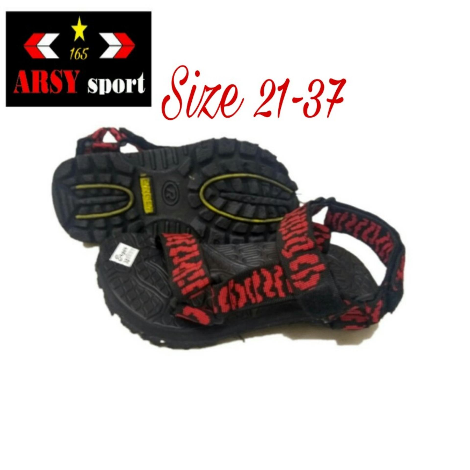 Arsy Collections Sandal Gunung Anak Slop - Merah