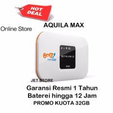 Bolt Aquila Max Modem Wifi 4G LTE 3000Mah- Putih + Bonus Kuota Total 32GB  hanya bisa di JABODETABEK DAN KOTA MEDAN