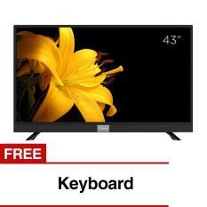 Coocaa 43 inch Full HD Smart Digital LED TV - Hitam (Model 43S3A12G) with Free Keyboard