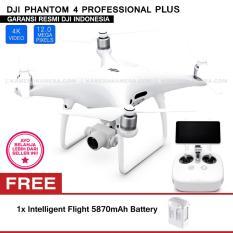DJI PHANTOM 4 PROFESSIONAL PLUS (Video 20MP 4K) Built in LCD on Remote Controller + Intelligent Flight 5870mAh Battery