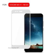 Full Cover Tempered Glass Warna Screen Protector for Xiaomi Mi A1 / Mi 5X - Putih
