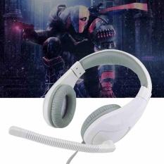 Headset Game dengan Mikrofon Cafe Headphone untuk Komputer Supper Bass Earphone-Intl