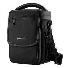 GPL/Powerextra Kecil Portable Tas Kamera Bahu untuk Nikon, Canon, Sony, Pentax, Olympus, Panasonic, Samsung DSLR Lensa Kamera dan Aksesoris + Microfiber Cleaning Cloth/kapal dari AMERIKA SERIKAT-Intl