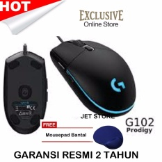 Logitech G102 Prodigy Gaming Mouse - Hitam + Mouse Pad.