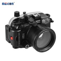 MEIKON Waterproof Camera Diving Housing Protective Case Cover Underwater 40m/ 130ft for Canon G7X Mark II - intl