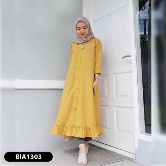 Murah Wanita/Murah Blouse/Muslim Wanita/Setelan Atasan/Long Dress/Baju Murah/Jumbo Wanita/ BIA TUNIK