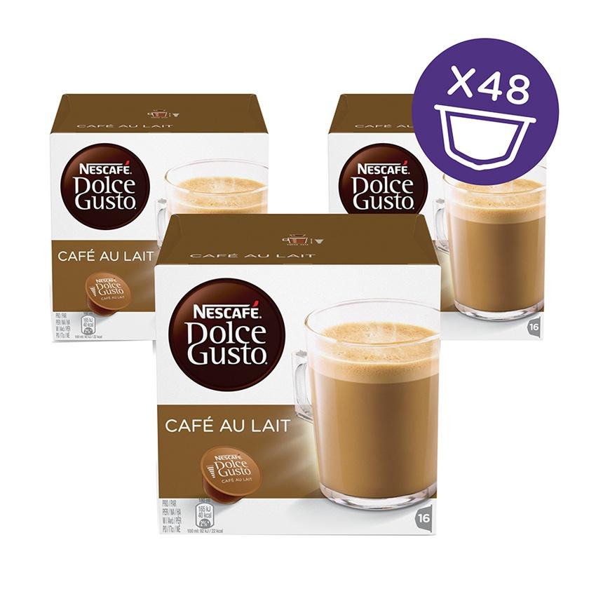 NESCAFE Dolce Gusto Kapsul - Cafe Au Lait - 3 Box