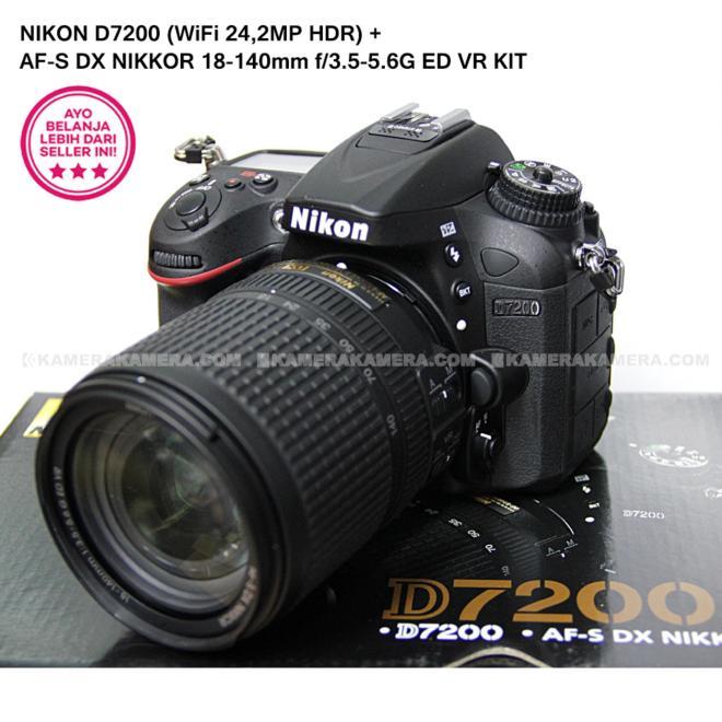 NIKON D7200 (WiFi 24,2MP HDR) + AF-S DX NIKKOR 18-140mm f/3.5-5.6G ED VR KIT