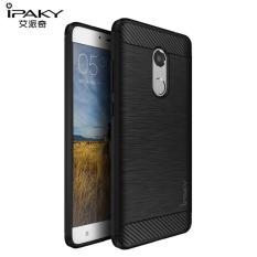 Original Lazada Case Ipaky Shockproof Carbon Hybrid For Xiaomi Redmi Note 4 / Note 4x - Hitam