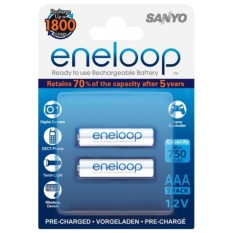 Sanyo Eneloop AAA Rechargeable Batteries 2pcs