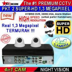 PROMO...PAKET TERBARU CCTV SUPER-HD 2 KAMERA ( 4in1 Cam) REAL AHD SYSTEM 1.3 MEGAPIXEL ( Bukan ANALOG TVL ) TERMURAH