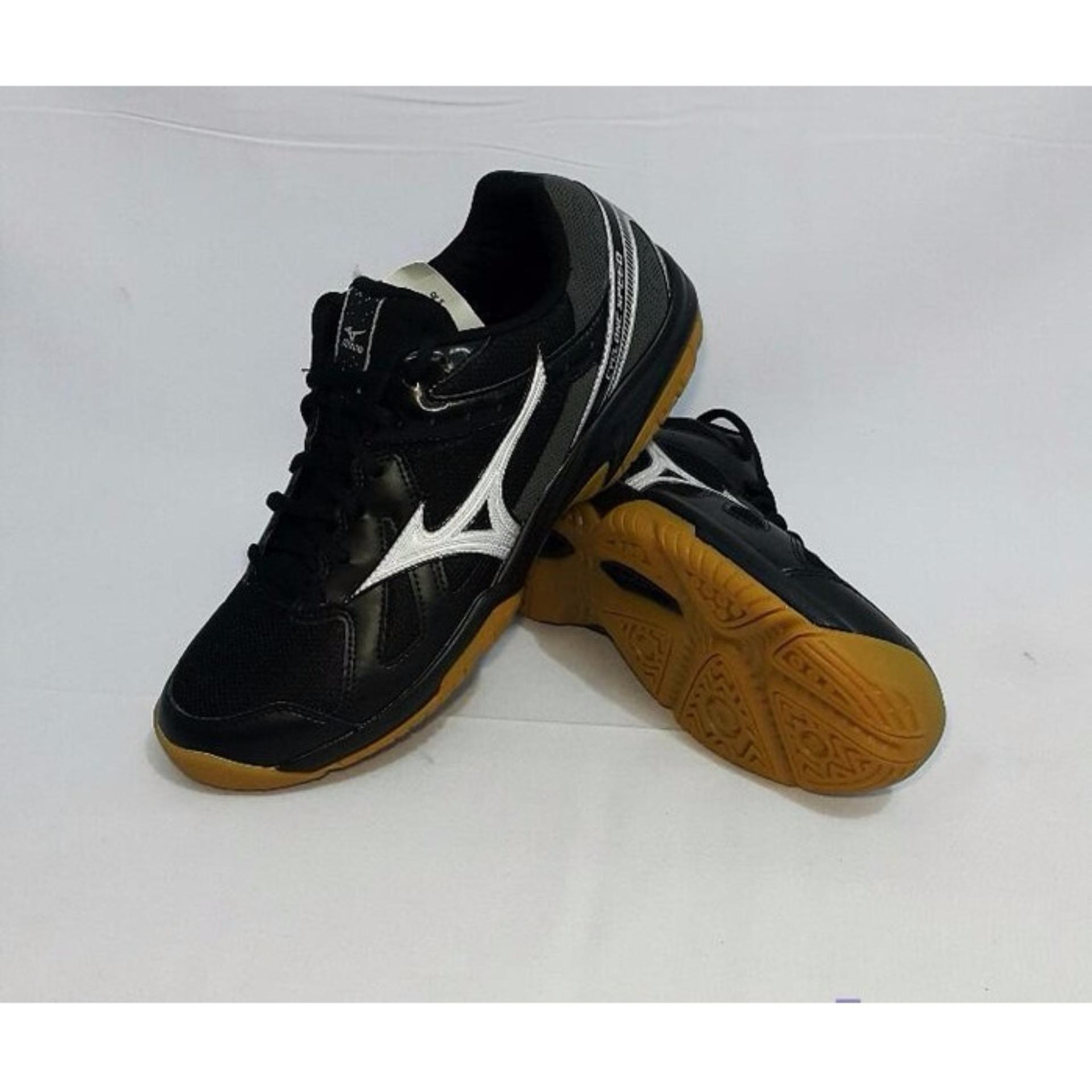 Sepatu voli Mizuno Cyclone Speed - Black  Silver  Dark Shadow