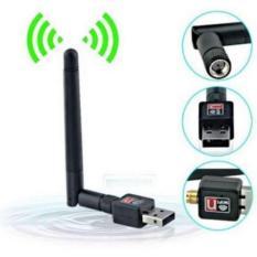 USB Wifi Dongle Receiver 802.11 N Dilengkapi Antena dan CD Driver
