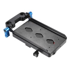 V Type Plate with 15mm Rod Clamp E6 Adapter for Sony V-Mount for Canon 5D2 5D3 60D 7D 6D DSLR Rig for BMCC BMPC - intl