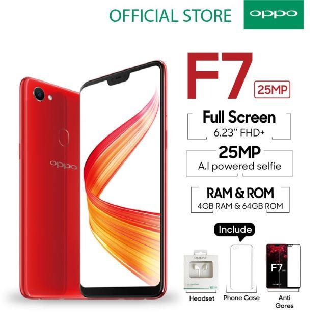 OPPO F7 SMARTPHONE 4GB/64GB Face Unlock, Al-Powered Selfie 25 MP (COD, Garansi Resmi OPPO, Cicilan tanpa kartu kredit, Cicilan 0%, Gratis Ongkir)