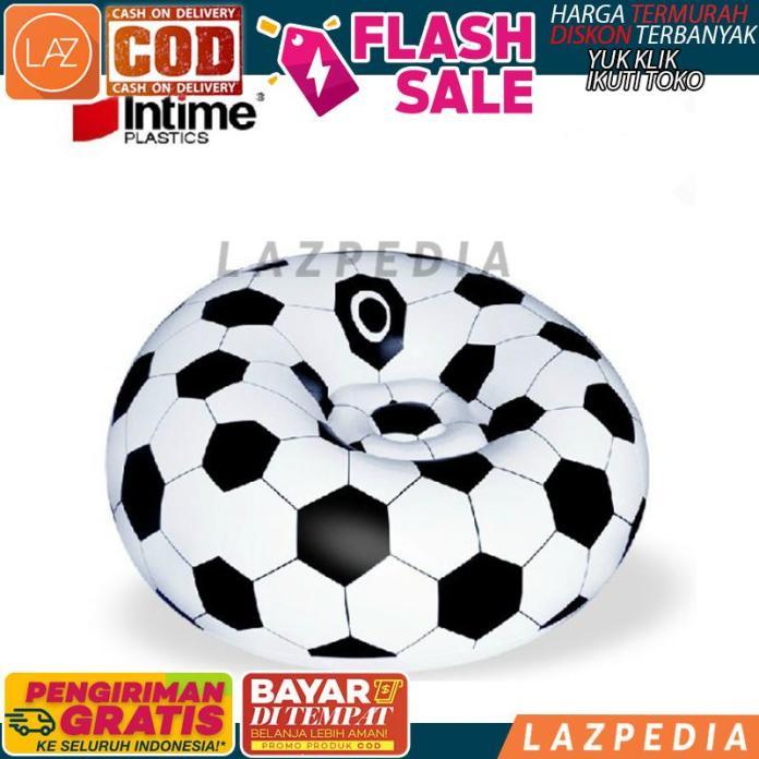 BISA BYR DITEMPAT - [PUTIH] Sofa Angin Bola Soccer INTIME / Furniture Ruang Tamu / Kursi / Sofa - Lazpedia A1154