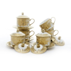 Cangkir Set Vicenza Original CRY85 - Cup & Saucers with Cover CRY85 Gemini