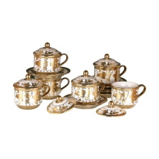 Cangkir Set Vicenza Original CRY85 - Cup & Saucers with Cover CRY85 Virgo