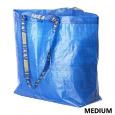 IKEA Tas Belanja Ukuran Sedang Frakta Go Green Shopping Carrier Blue Bag