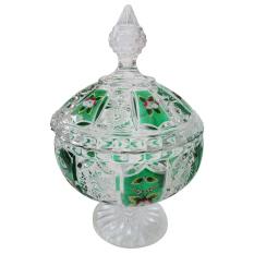 MitraLoka King Kristal - Toples Kue Dan Toples Permen Kecil Kristal - Hijau