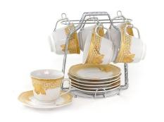Vicenza Cup & Saucer - Tea Set Cangkir dan Lepek C78-1 Motif Lily