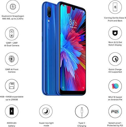 Xiaomi Redmi Note 7 4/64GB Rom - [12MP+2MP Dual Primary Cameras]