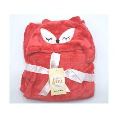 AF. Selimut Bayi Bulu Topi Karakter Double Fleece Tudung