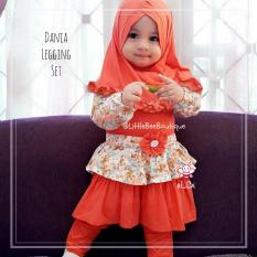 eLBi - Dania Legging Set Baju Muslim Anak Balita by Little Bee Boutique