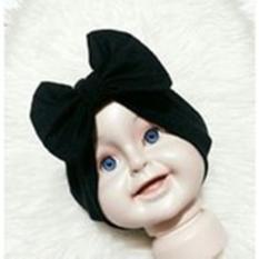 Turban Pita Bayi & Anak (pakaian anak perempuan hijab kerudung gamis) - Hitam
