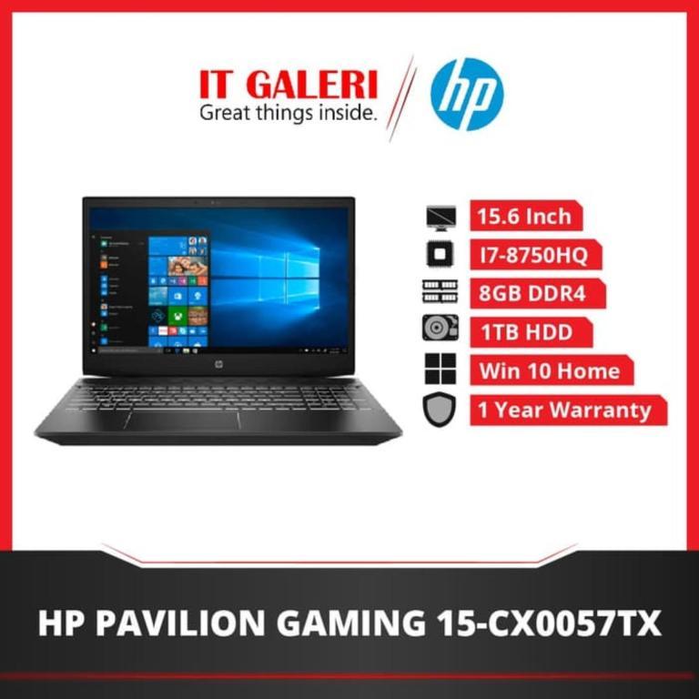 HP Pavilion Gaming Laptop 15-cx0057tx - Ci7-8750H - 8GB - 1TB - GTX1050 - 15.6
