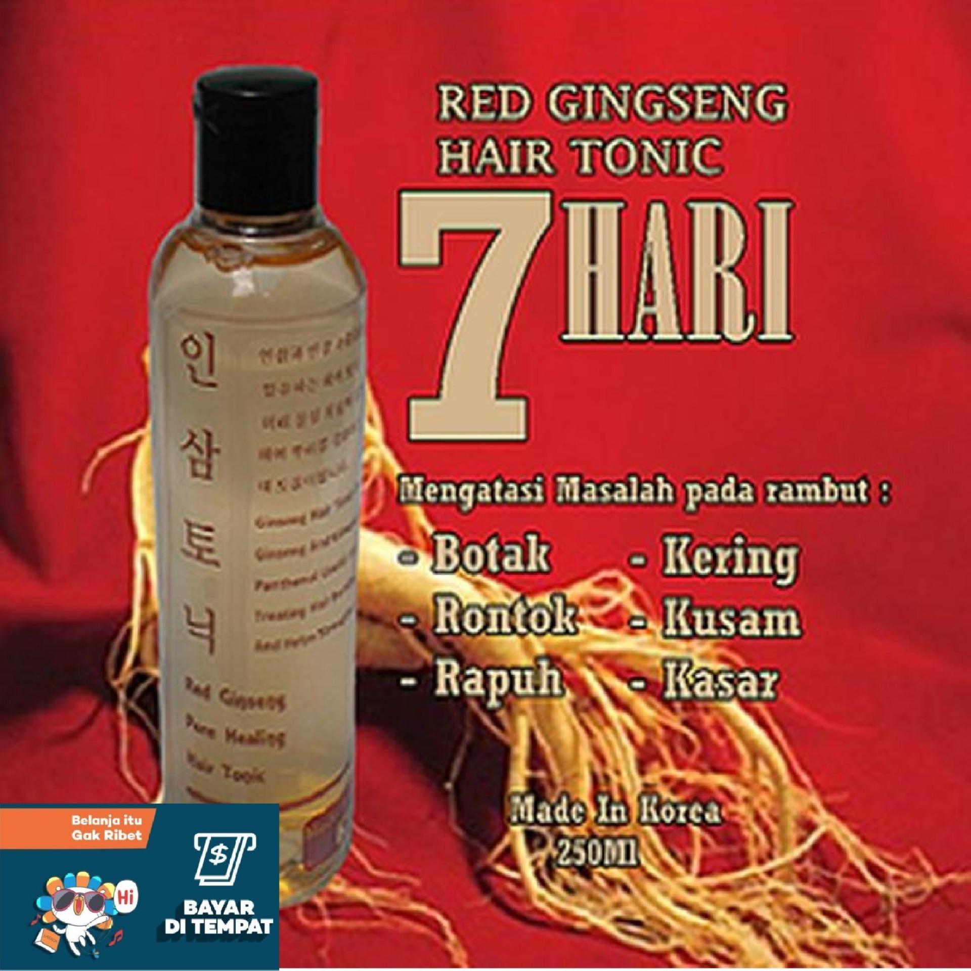 Red Ginseng Hair Tonic  Asli Original Korea Vitamin Rambut Rontok Botak Red