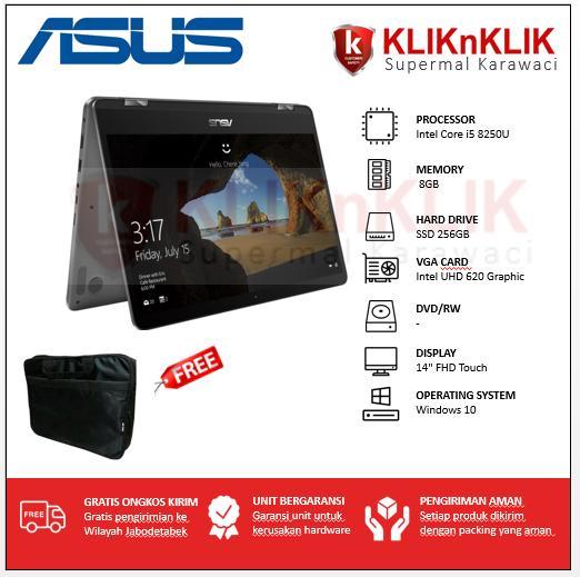 ASUS ZenBook Flip UX461UA-8250U-8GB-256GB-Win10 Grey X360