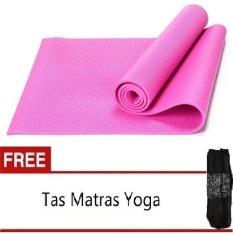 Anekaimportdotcom Matras Yoga, Yoga Mat, Pilates Mat - Pink + Gratis Tas