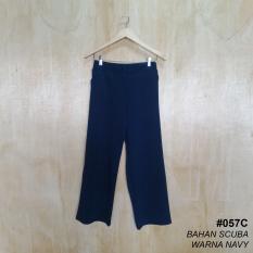 Alicia Celana Kulot Panjang / Basic Kulot Pants (Navi)